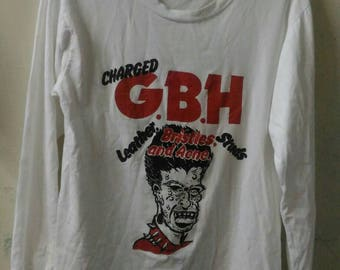 Vintage long sleave band shirt GBH/punk/90s