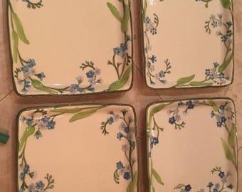 Decorative plates set of 4