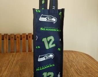 Seahawks wine bag