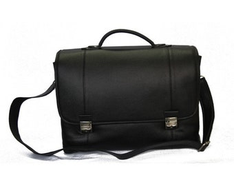 MJ MICK Leather Bag Handmade in Morocco,Black Color Leather Goods