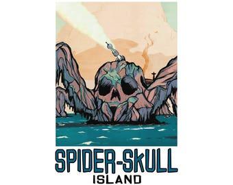 "Spider-Skull Island 13"" x 19"" Travel Poster - Venture Bros."
