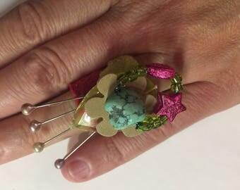 Ring in ring-Spassring, finger plastic
