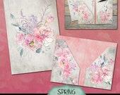 Printable Folder, Spring Blush