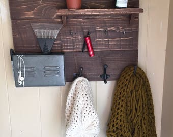 Reclaimed Wood Hanging Organizer
