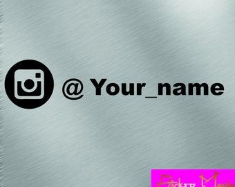 Instagram nickname decal sticker 15 cm