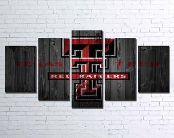 Texas Tech 5pc Wall Canvas
