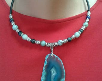 Necklace Woman Jewelry Style Fashion Blue Naturel stones Beautiful Lazurite