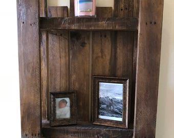 Rustic Hanging Wall Shelf