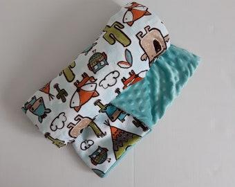 Beautiful blanket 30 x 36 with minky