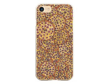 Pizza iphone case iphone 6 7 8 x silicone soft case