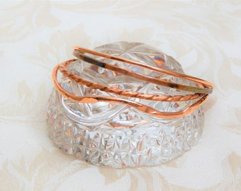 Set of 4 Copper Bangles