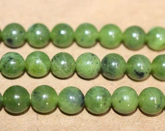 15 Inches Full strand,Natural Canada jade Beads smooth round 8mm beads wholesale,loose beads,semi-precious stone