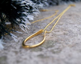 Geometric 14k Gold plated Chain Necklace