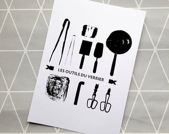 Serigraphy glassmaker tools-arts and crafts
