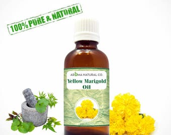 Yellow Marigold Essential Oil Pure & Natural For Aromatherapy