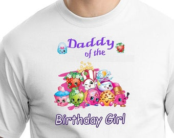 Shopkins , Iron On Transfer , Shopkins Daddy , DIY Daddy Birthday Shirt , Transparent Background , Instant Download , Digital Files