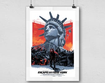 Escape From New York Action Artwork Home Decor Movie Poster