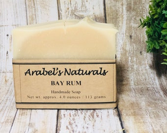Bay Rum Soap Bar - Manly Soap - Gifts For Men - Soaps Guys Love -  Bay Rum Vegan Soap Bar - Soap For Men - Artisan Soap - Gifts for him -