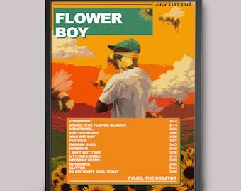 Tyler, The Creator Flower Boy Custom Poster // Instant Download // Printable