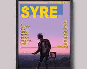 Jaden Smith SYRE Custom Music Poster Instant Download // Printable // A3 Album Art // Wall Art
