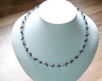 Hangemacht, glass beads, stainless steel closure