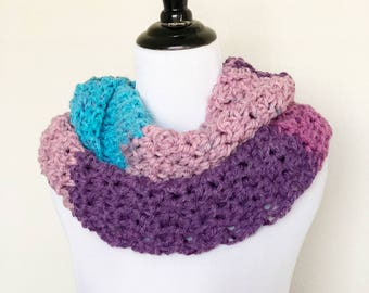 Chunky Infinity Scarf in Plum Pudding