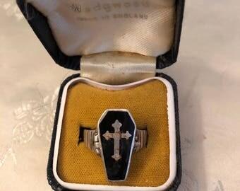 Vintage Sterling Poison Ring
