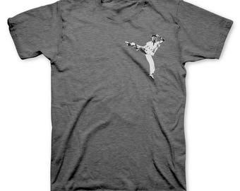 Chuck Norris Kick T Shirt || Men's Chuck Norris T-Shirt || Officially Licensed Chuck Norris Approved Shirt