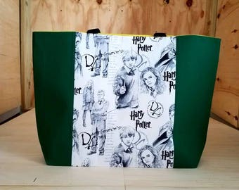 Large Green Slitherin Harry Potter Tote Bag