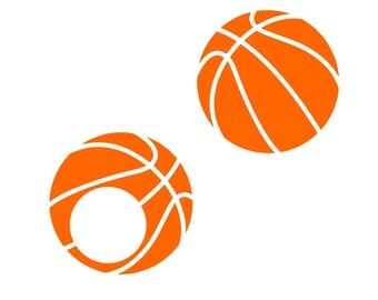 Basketball monogram Svg basketball svg Monogram svg Vector cut file cutting file for Cricut Explore Silhouette Cameo dxf files svg files eps