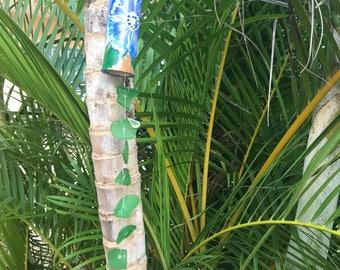 Single Strand Seaglass Bamboo Windchime Suncatcher