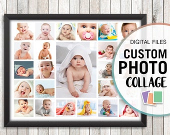 First Birthday Collage, Baby Photo Collage, Personalized Collage, Personalized Photo Gifts, Custom Photo Gift, Custom Photo Collage, Jpg Pdf