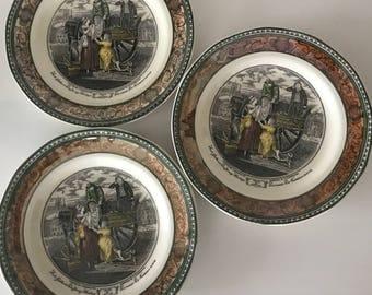 3 platos de Porcelana Inglesa Adams