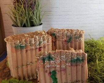 Gilded Goat Artisan Mens Soap Collection: Ocean Sands Sandalwood Oats Goat's Milk Soap