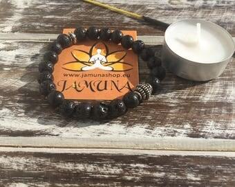 Lava stone bracelet, real stone bracelet, elastic bracelet, energy bracelet, men's bracelet, beaded bracelet, spiritual