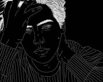 Cole Sprouse / Jughead Digital Art Print, Riverdale