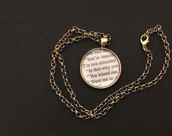 Romance Novel Necklaces