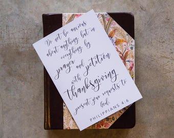 Philippians 4:6 Scripture Card