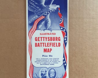 Illustrated Gettysburg Battlefield Map, copyright 1936 PA