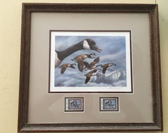 Duck Stamp Print, First of State - Framed
