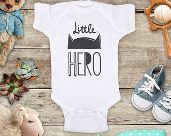 little HERO baby bodysuit for baby announcement pregnancy - Baby bodysuit or Toddler Shirt or Youth Shirt
