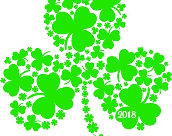 Clover Made of Clovers St. Patrick's Day SVG File