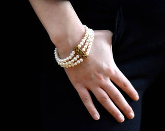 Antique fresh water pearl bracelet