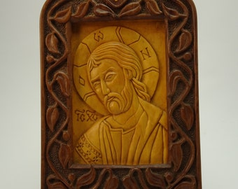 Jesus Christ Wood Carving Religious Icon