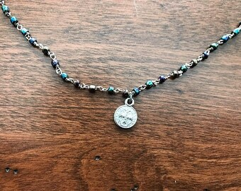 St. Benedict Medal // Beaded Choker