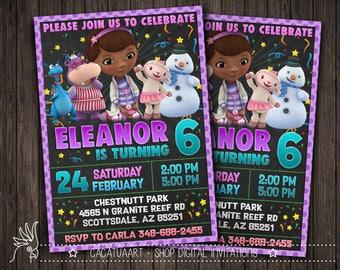 Doc McStuffins Invitation, Doc McStuffins Editable, Doc McStuffins Editable Invitation, Doc McStuffins Birthday