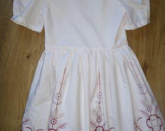 Handmade cotton Girls dress Age 7-8