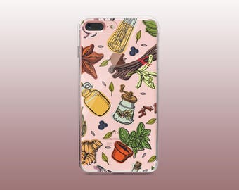 Spice Clear TPU Phone Case for iPhone 8- iPhone 8 Plus - iPhone X - iPhone 7 Plus-iPhone 7-iPhone 6-iPhone 6S-Samsung S8