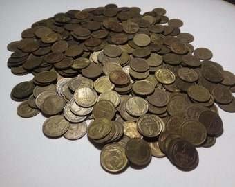 Lot of 450 Soviet Russia USSR 1 Kopeyka, 2 Copeks, 3 Kopeyki, 5, 10, 20 Kopeks COINS 1961-1991