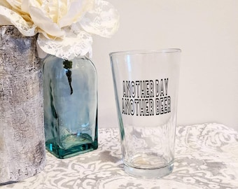 Another Day Another Beer // Beer Mug // Beer Glass // Funny Mug // Mugs with Words // Larry the Enticer //